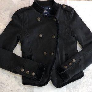 American Eagle. Military black Moto crop jacket XS